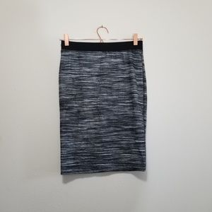 Trina turk marled, striped pencil skirt (d)